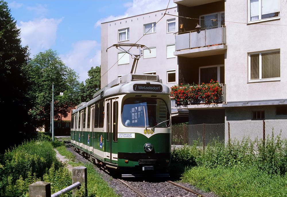 TW 510 (850) in der Hilmteichschleife ©styria-mobile/Fotograf02 05.08.1979