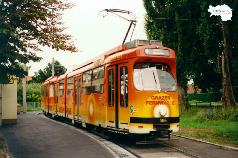 TW 506, der gerade vom 7er zum 14er wurde in Wetzelsdorf 09.07.1998©styria-mobile