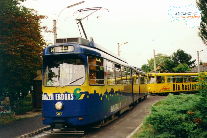 TW 507 als 14er in Wetzelsdorf ©styria-mobile