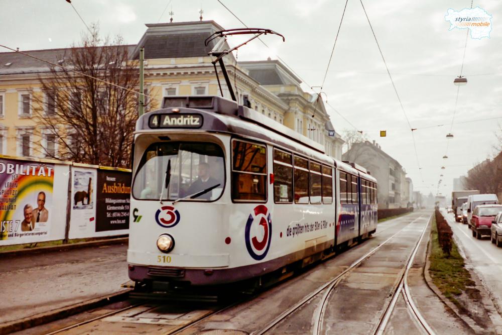 TW 510 in der HSt Steyrergasse, 24.12.1997 ©styria-mobile