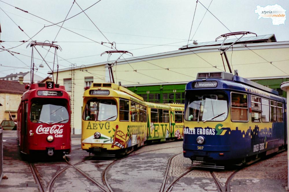 TW 537, 509 und 507 - Graz Marathon 12.10.1997 ©styria-mobile