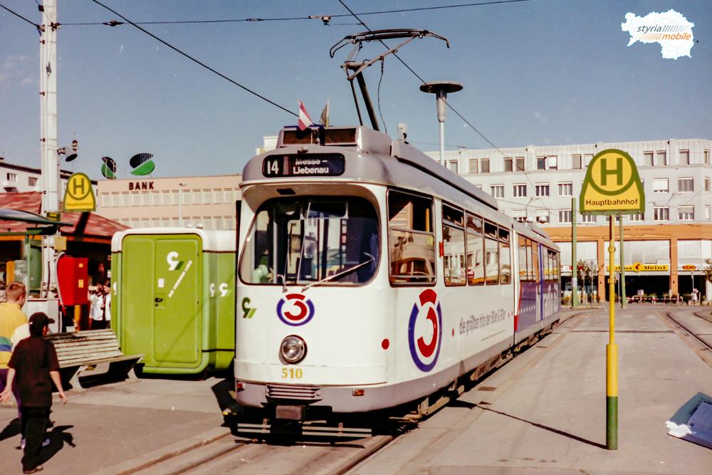TW 510 als 14er am Hauptbahnhof 27.09.1997 ©styria-mobile
