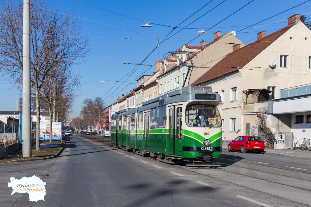 TW 502 in der Conrad von Hötzendorfstraße 02.01.2017 ©styria-mobile