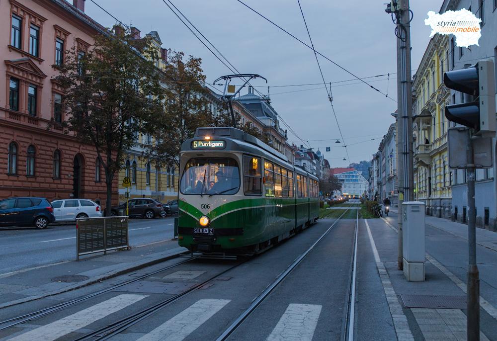 TW 506 in der Conrad von Hötzendorfstraße 06.10.2015 ©styria-mobile