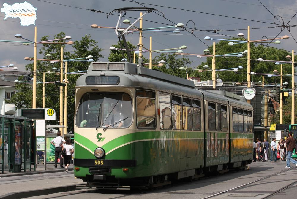 TW 505 am Jakominiplatz 04.07.2009 ©styria-mobile