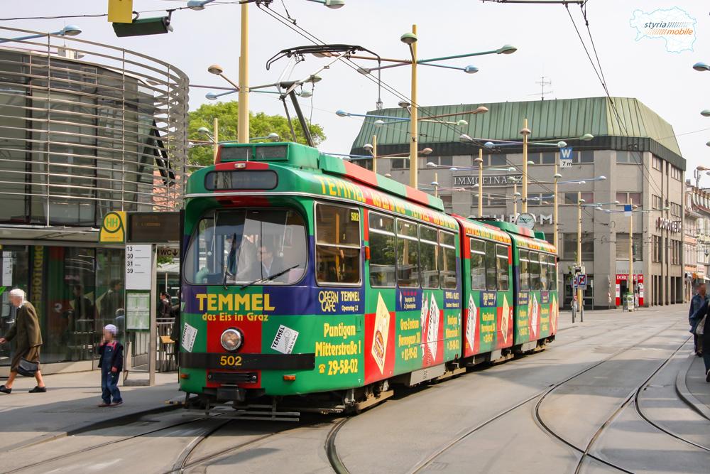 TW 502 am Jakominiplatz 01.05.2009 ©styria-mobile