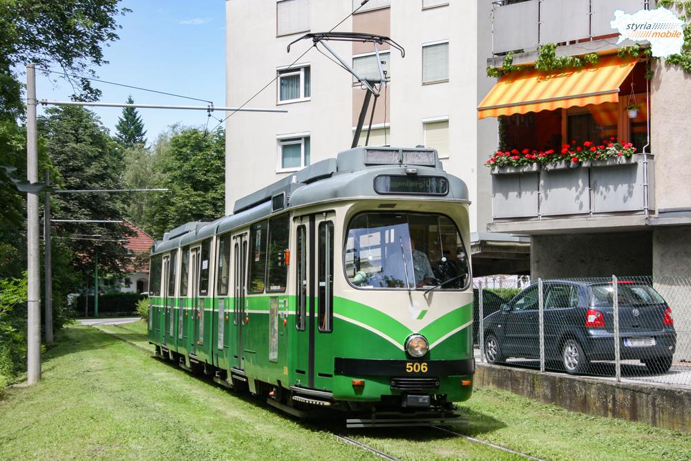 TW 506 in der Hilmteichschleife, 08.07.2009 ©styria-mobile