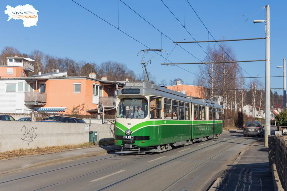 TW 509 in der Peterstalstraße 16.02.2017 ©styria-mobile