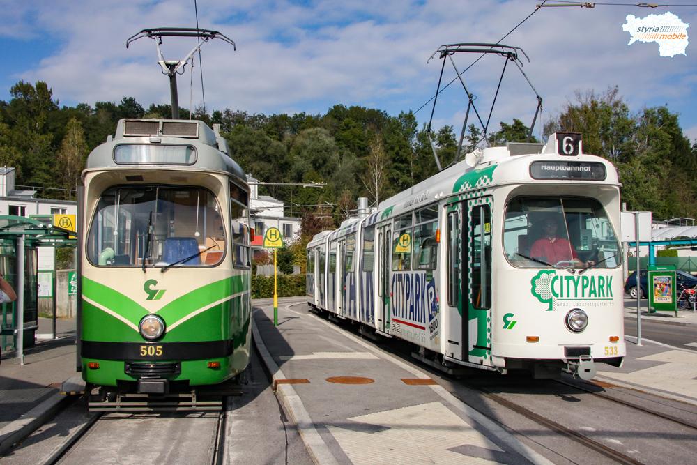 TW 505 und TW 533 trafen sich in St. Peter am 05.10.2009 ©styria-mobile
