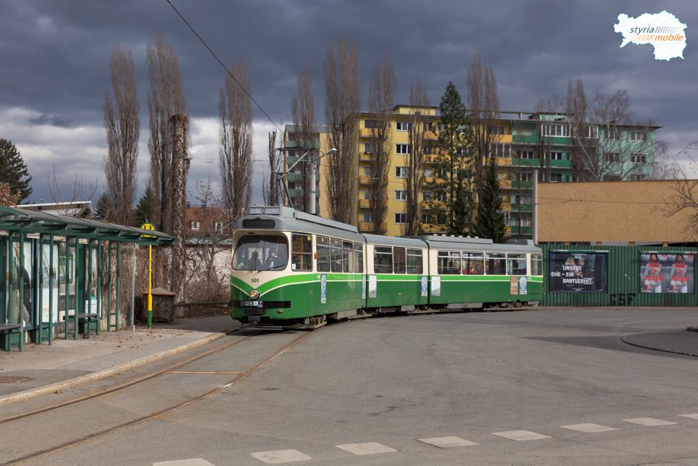 TW 501 als 6er in der Schleife Stadion 28.02.2017 ©styria-mobile