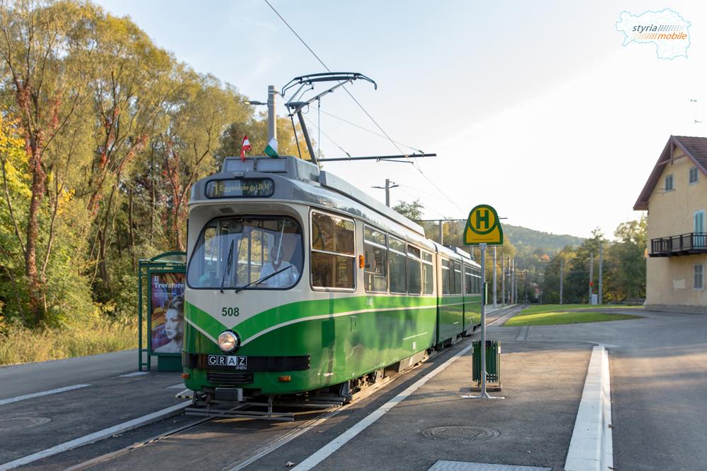 TW 508 in der neuen Endhaltestelle Mariatrost 02.10.2017 ©styria-mobile