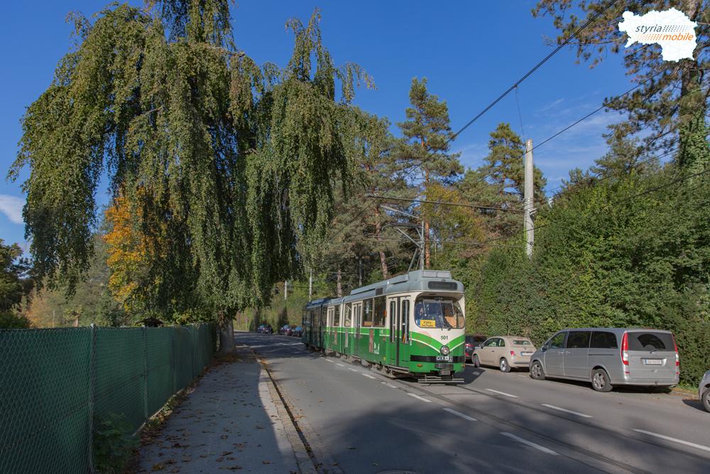 TW 501 als Fahrschule in der Hilmteichstraße 12.10.2016 ©styria-mobile