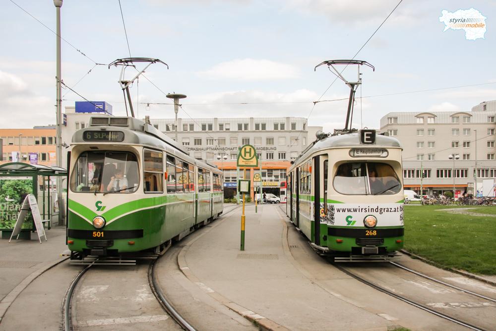 TW 501 und TW 268 am HBF 27.04.2009©styria-mobile