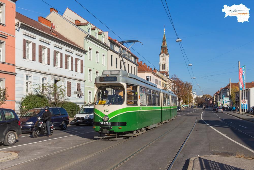 TW 502 als Fahrschule am Schönaugürtel 31.10.2016 ©styria-mobile