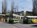 TW 510 mit der Nummer 850 und Büssing 11RU/5 Wagennummer 64 ©styria-mobile/Fotograf02 08.04.1979