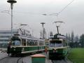 """TW 507 im """"Allerheiligeneinsatz"""" neben TW 269 ©styria-mobile/Fotograf02 01.11.1979"""