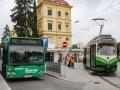 TW 504 als 7er in Richtung Eggenberg/UKH am Riesplatz ©styria-mobile