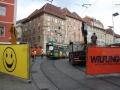 TW 502 am Hauptplatz kurz vor dem Weichentausch 10.06.2009 ©styria-mobile