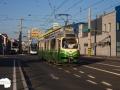 TW 501 als 1er in jenem Teil der Eggenberger-Straße, der von der Linie 1 an diesem Tag zum letzten Mal befahren wurde 10.07.2015©styria-mobile