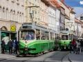 TW 510 als Linie 6 trifft TW 292 (4) am Hauptplatz 29.05.2009 ©styria-mobile