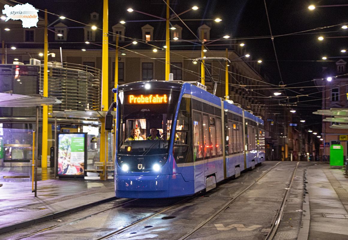 2501 - Testfahrt  - ©581er - Jakominiplatz