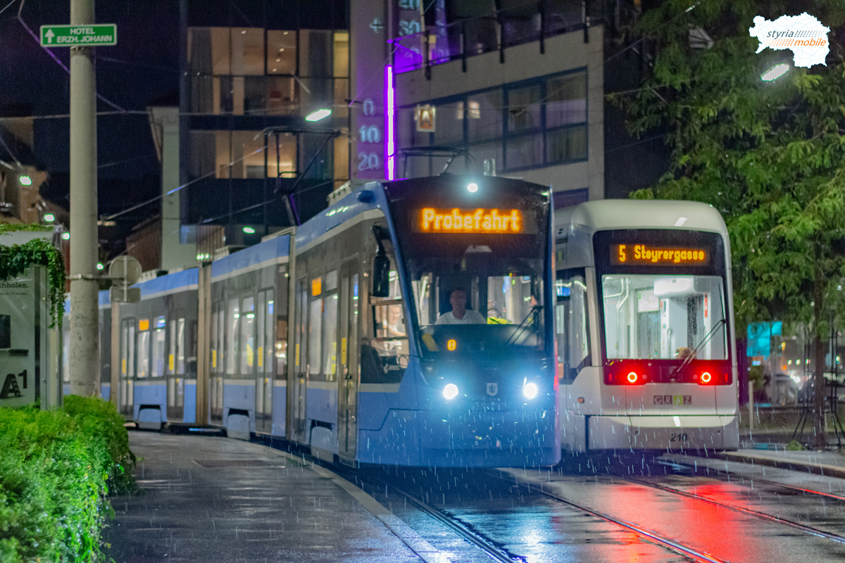 Testfahrten mit Avenio 2501 - Theodor-Körner-Straße / Andritz, 17.08.2020, ©581er