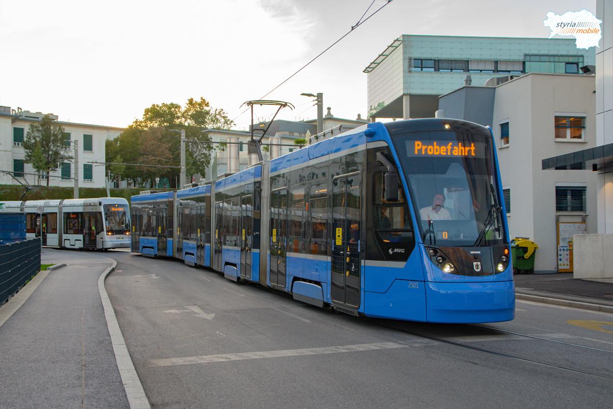 Avenio Testfahrten am Ast zur Med Uni, 19.08.2020 ©581er