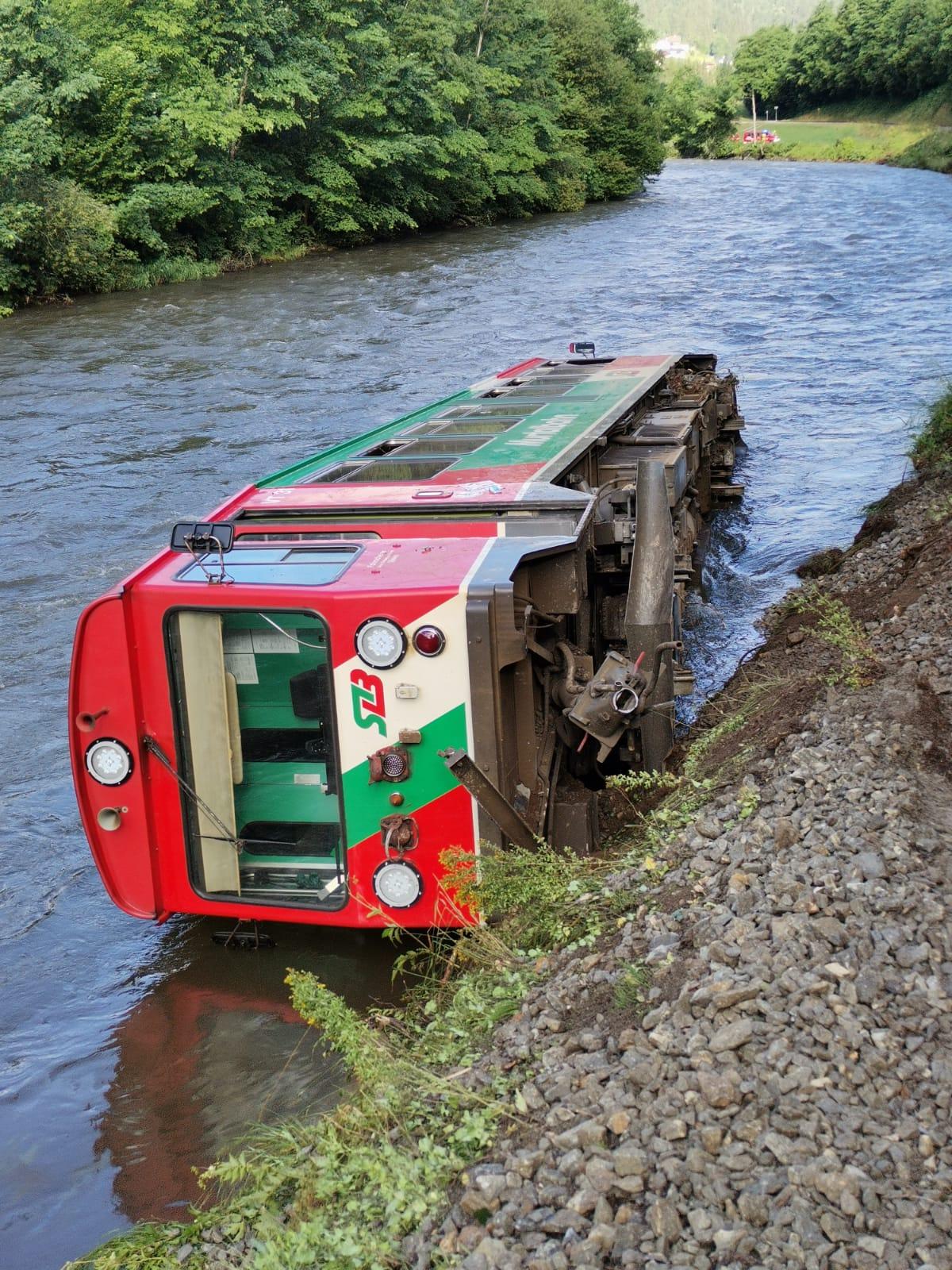 VT 31 nach dem Unfall am 9. Juli 2021 - Foto ©STB