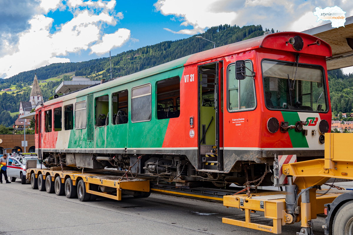 VT 31 im Bahnhof Murau, 06.08.2021