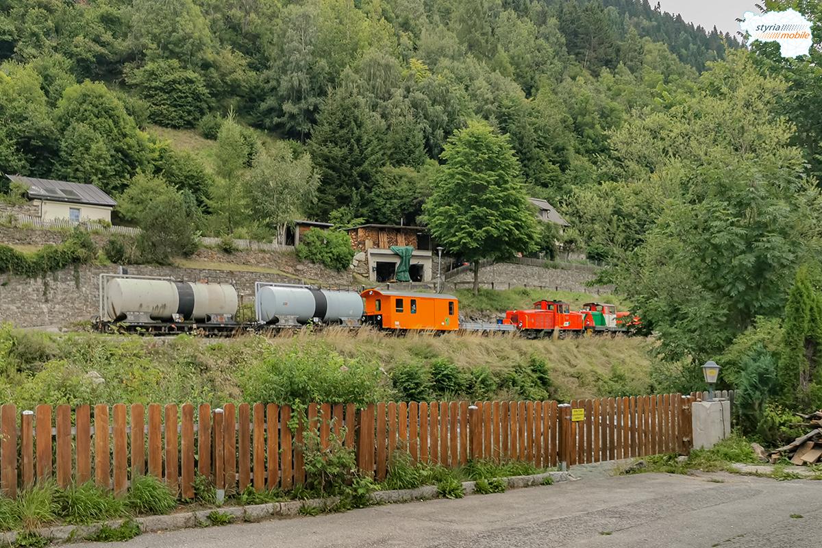 Die beiden Hilfszüge - vereinigt auf dem Weg nach Murau durch Predlitz, 06.08.2021