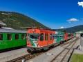 Zug von Unzmarkt mit VT 35, 06.08.2021