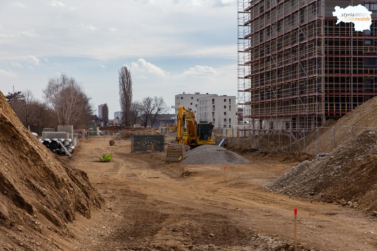 Wetzelsdorfer Straße Blickrichtung Bimtrasse, 09.03.2019