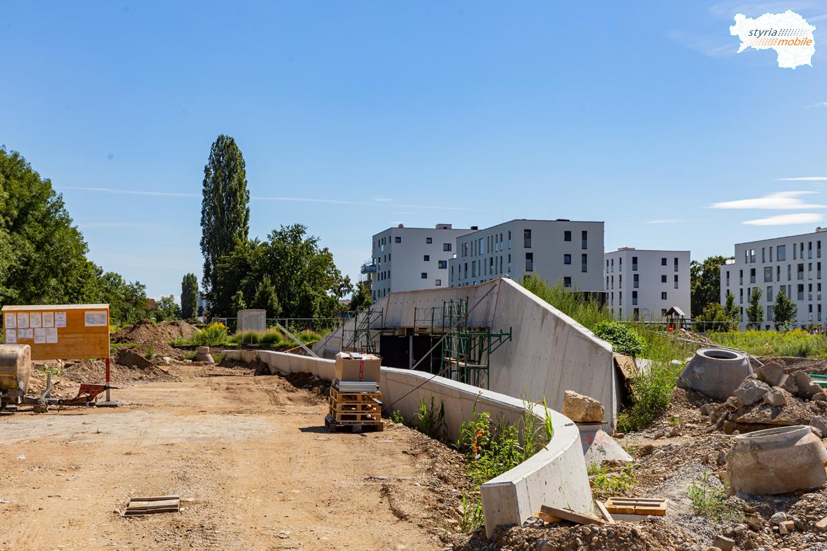 Straßenbahn nach Reininghaus, Bereich Endstation, 18.08.2019