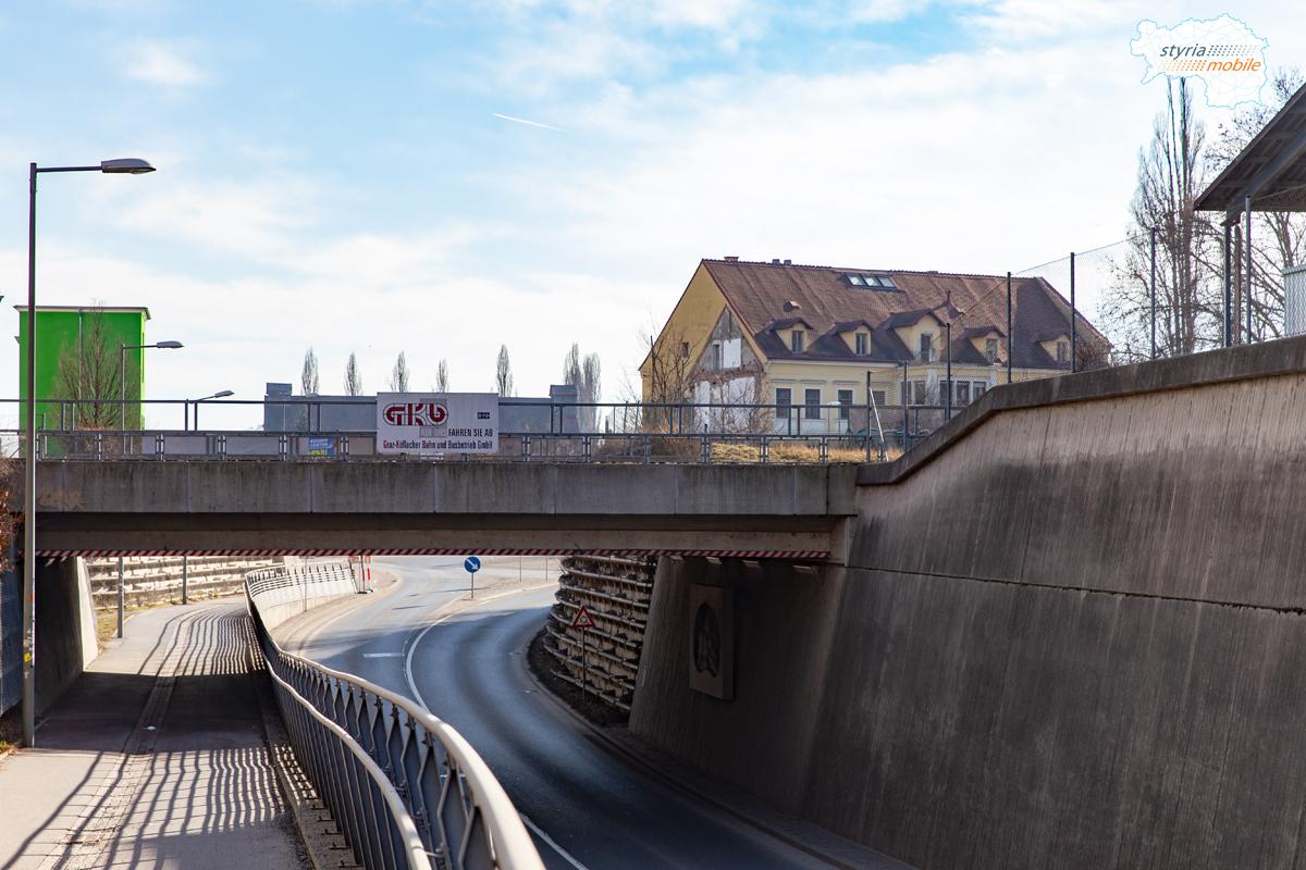 Alte Poststraße/GKB-Unterführung, 09.02.2019