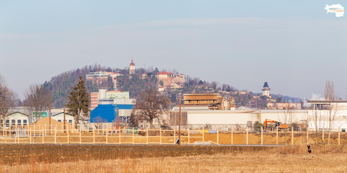 Blick auf den Schloßberg, 09.02.2019