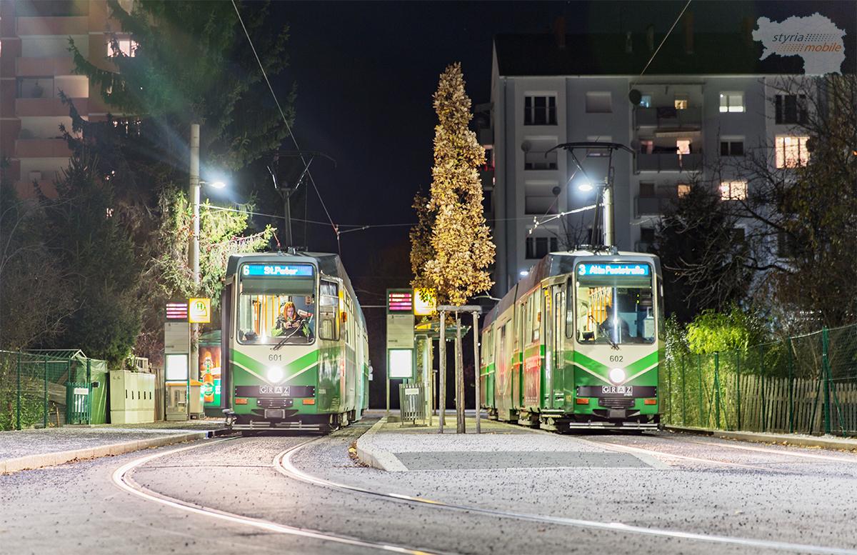 18.11.2016 TW 601 und TW 602 in der Laudongasse