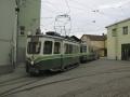 Der frisch verlängerte TW 601 trifft am 09.03.1999 wieder in Graz ein