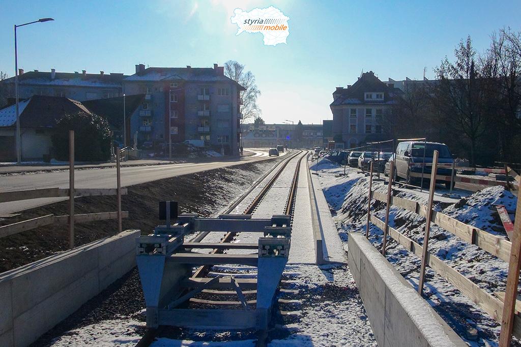 19.01.2017 Weiz, neue Endstation beim Schulzentrum